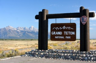 Grand Teton National Park Entrance Sign