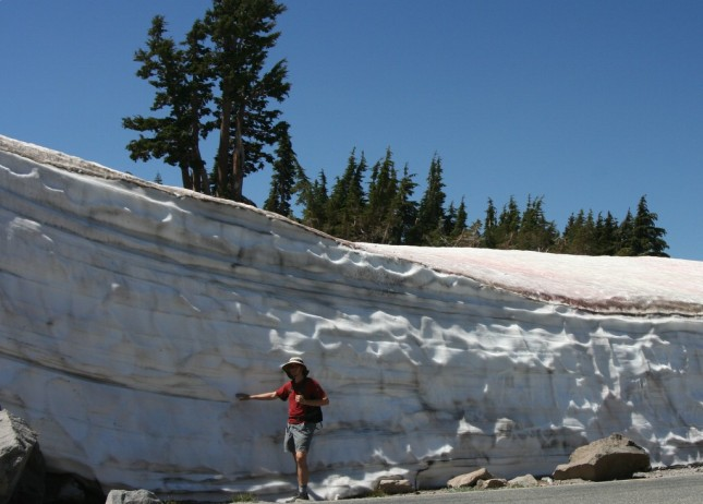 Lance, Dwarfed by Late Summer Snow