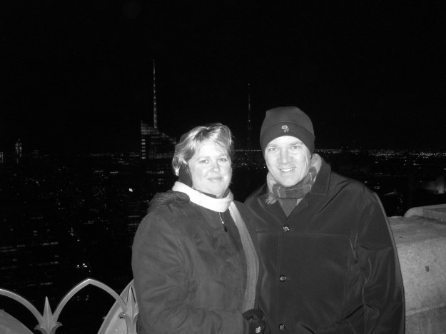 Erin and Lance, Top of the Rock, NYC